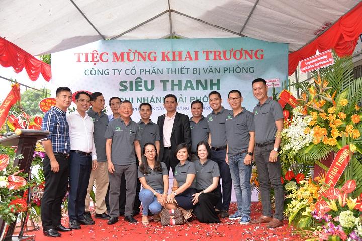 Công ty CP TBVP Siêu Thanh khai trương chi nhánh Hải Phòng ngày 18/08/2018
