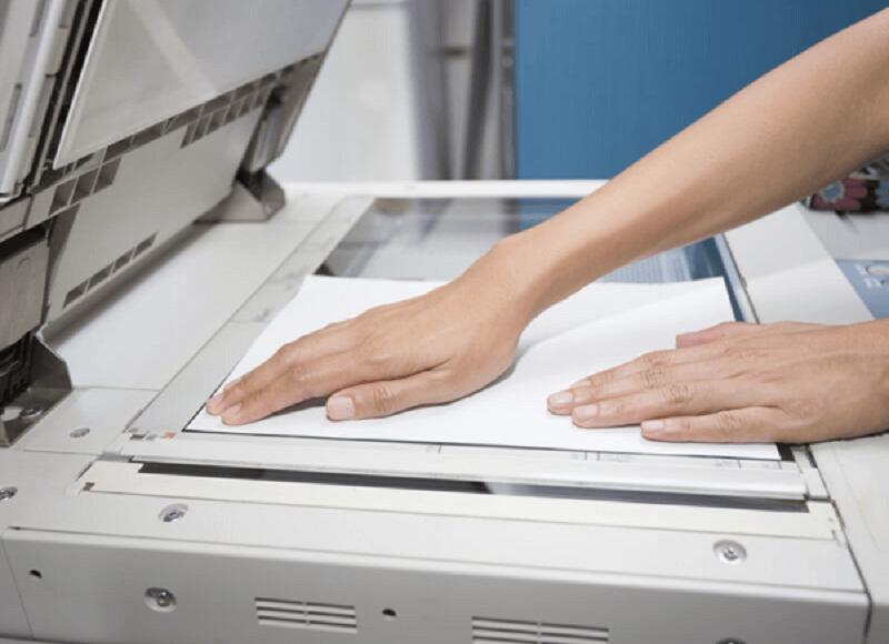 máy photocopy bị mờ